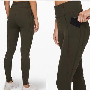 Lululemon army green leggings NWT size 2